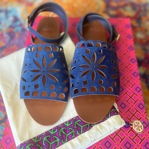 [Tory Burch] May Flat Sandal Lancaster Suede